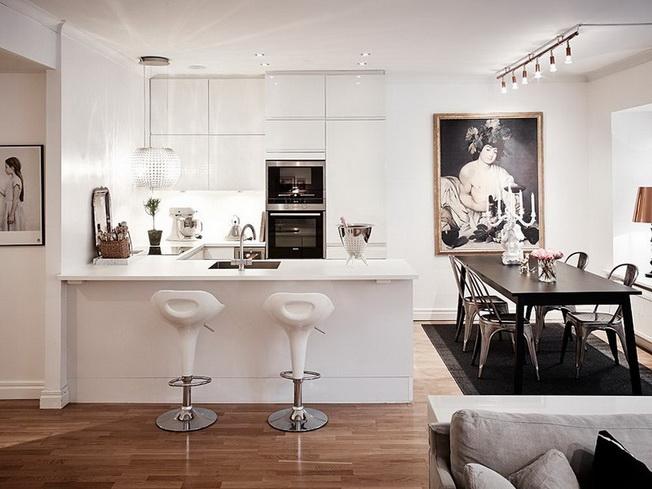 Aranżacja kuchni z salonem – ciekawe pomysły na wygodne   -> Kuchnia Otwarta Obrazy